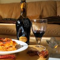 Carnevale: lasagna e lambrusco