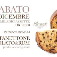 Presentazione panettone cioccolato e rum alla Pasticceria Liccardo